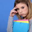 Portrait of a fed-up student — Stock Photo