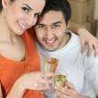 Couple happy in new home — Foto Stock
