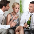 Colleagues drinking champagne — Stock Photo