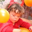 Young boy in a Halloween devil's costume — Stock Photo #8333944