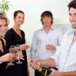 Popping the champagne — Stock Photo #8334127