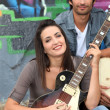 Musical duo - Stockfoto