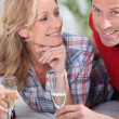 Stock Photo: Couple with champagne