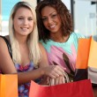 Friends out shopping together — Stock Photo #8337407