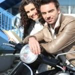 Couple commuting — Stock Photo #8337642