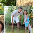 Collage illustrating the great outdoors — Stock Photo