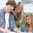 Stock Photo: Three students