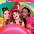 Three female friends at the seaside — Stock Photo #8339065