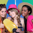Girls ready for beach — Stock Photo #8339073