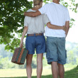Couple going on a picnic - 