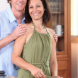 Couple cooking at home - 