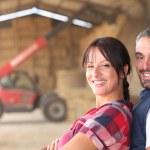 Farmer couple — Stock Photo #8339665