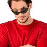 Cool man wearing sunglasses — Stock Photo