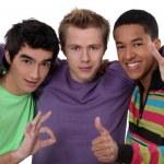 Three male friends — Stock Photo