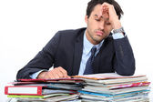 Stressed young professional — Foto Stock