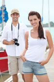 Couple on holidays by sea — Stock Photo