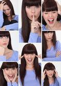 Woman faces — Stock Photo
