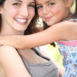 Portrait of a mother and daughter — Stock Photo
