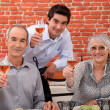 Family making a toast — Stock Photo