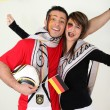 German soccer team fans — Stock Photo