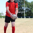 Stock Photo: Mplaying rugby