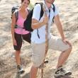 Happy hikers — Stock Photo