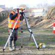 Land surveyor — Foto de stock #8343749