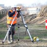 Land surveyor — Stock Photo