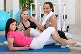 Kvinnliga gym class — Stockfoto
