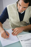 Man making a sketch — Stock Photo