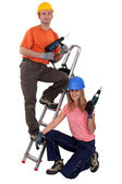 Couple of DIY enthusiasts — Stock Photo