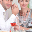 Royalty-Free Stock Photo: Man and woman enjoying meal