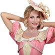 Stock Photo: Womwith costume