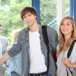 Students at college entrance — Stock Photo #8385125