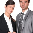 Dynamic business couple — Stock Photo #8385746