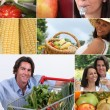 Nutrition and vegetables — Stock Photo