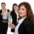 Businesswomen drinking champagne — Stock Photo #8389127