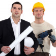 Architect and builder — Stock Photo #8389371