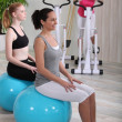 Стоковое фото: Women training in fitness club