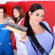 Trio of handygirls — Stock Photo #8389699