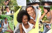 Mosaic of outdoor activities — Stock Photo