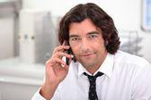 Businessman on phone — Stock Photo