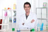 Portrait of a lab assistant — Stock Photo