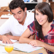 Stock Photo: Teenagers studying