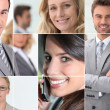 Stock Photo: Businessmen mosaic