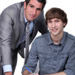 Stock Photo: Teacher and student