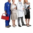 Mechanic, secretary, GP and hairdresser. — Stock Photo #8392919
