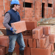 Builder on site — Stock Photo