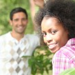Couple in the woods — Stock Photo #8395896