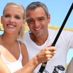 Duo fishing — Stock Photo